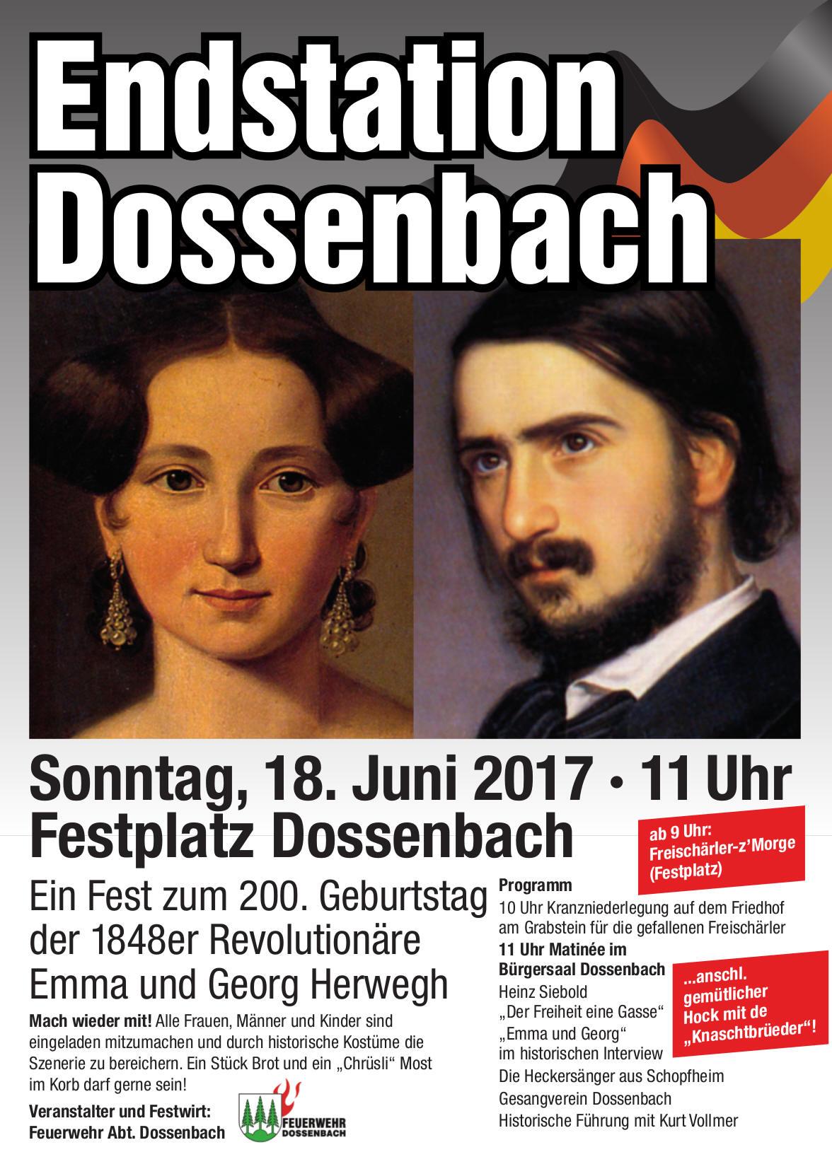 Plakat Endstation Dossenbach